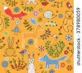 seamless pattern on the theme... | Shutterstock .eps vector #378980059