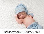 one month old newborn baby boy... | Shutterstock . vector #378990760