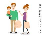 vector illustration of family ... | Shutterstock .eps vector #378991459