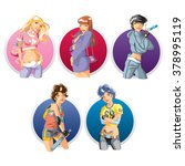 types of the girls | Shutterstock .eps vector #378995119