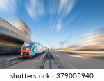 high speed train with motion... | Shutterstock . vector #379005940