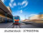 high speed train with motion... | Shutterstock . vector #379005946