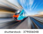 high speed train with motion... | Shutterstock . vector #379006048