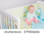 happy toddler with cute smile... | Shutterstock . vector #379006606