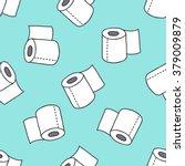 seamless doodle pattern. toilet ... | Shutterstock .eps vector #379009879