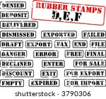 collection of rubber stamps... | Shutterstock .eps vector #3790306