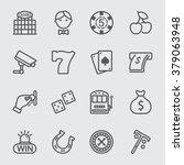 casino line icon | Shutterstock .eps vector #379063948