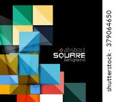 glossy color squares on black.... | Shutterstock .eps vector #379064650