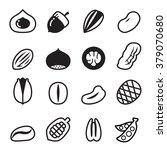 nut icons vector illustration... | Shutterstock .eps vector #379070680
