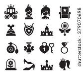 princess icons | Shutterstock .eps vector #379070698