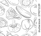 vegetables pattern with hand... | Shutterstock .eps vector #379071139