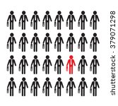 people icon think different... | Shutterstock .eps vector #379071298