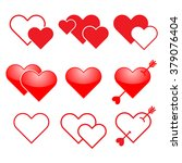 heart valentine icon set 2 | Shutterstock .eps vector #379076404