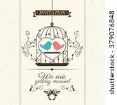 wedding invitation design  | Shutterstock .eps vector #379076848