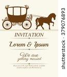 wedding invitation design  | Shutterstock .eps vector #379076893