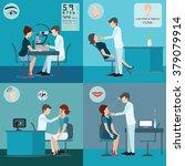 patient and doctor set  ear ... | Shutterstock .eps vector #379079914
