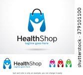 health shop logo template...   Shutterstock .eps vector #379101100
