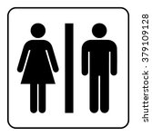 restroom sign. male and female... | Shutterstock . vector #379109128