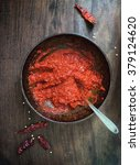 harissa   a middle eastern hot... | Shutterstock . vector #379124620