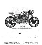 vintage race motorcycle for... | Shutterstock .eps vector #379124824