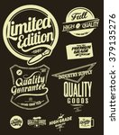 vintage element badge label set ... | Shutterstock .eps vector #379135276