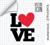 love card design  | Shutterstock .eps vector #379143976