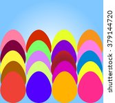 a set of colored easter eggs... | Shutterstock .eps vector #379144720
