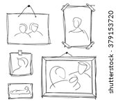set of hand drawn frames with... | Shutterstock .eps vector #379153720