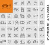 vector car repair service icons ... | Shutterstock .eps vector #379160566