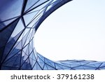morden architecture  with blue... | Shutterstock . vector #379161238