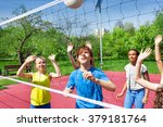 teenagers are playing... | Shutterstock . vector #379181764