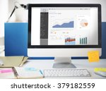 business chart visual graphics... | Shutterstock . vector #379182559