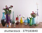 decorative vases and flowers... | Shutterstock . vector #379183840