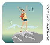 vector illustration of girl on... | Shutterstock .eps vector #379196224