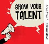 megaphone hand  business...   Shutterstock .eps vector #379197979