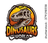 dinosaurs world emblem with... | Shutterstock . vector #379198558