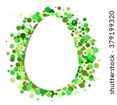 white egg with n green pointed... | Shutterstock .eps vector #379199320
