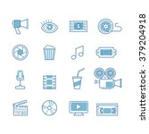 set of line movie design... | Shutterstock .eps vector #379204918