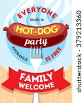invitation on barbecue with hot ... | Shutterstock .eps vector #379213360