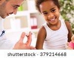 little happy girl get an... | Shutterstock . vector #379214668