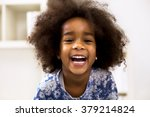 smiling beautiful african girl... | Shutterstock . vector #379214824