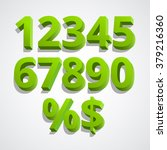 set of vector numbers  from 1... | Shutterstock .eps vector #379216360