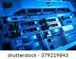 network servers in data room... | Shutterstock . vector #379219843