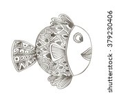 fish. doodle style. vector...   Shutterstock .eps vector #379230406