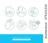 medical icons. light  isolated  ... | Shutterstock .eps vector #379231210
