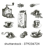 natural grain coffee | Shutterstock .eps vector #379236724
