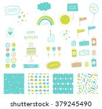 big set of cute elements for... | Shutterstock .eps vector #379245490