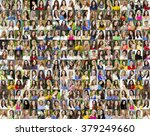 collage of beautiful young... | Shutterstock . vector #379249660