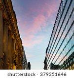 sunset reflection in glass... | Shutterstock . vector #379251646