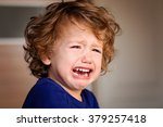 a crying little baby boy | Shutterstock . vector #379257418